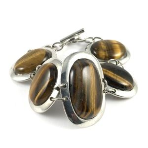 Huge Statement Tigers Eye Vintage Bracelet